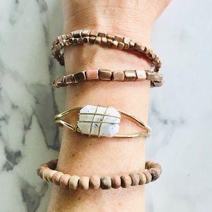 Jewelry - White and Black Gemstone Bracelet